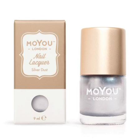 MoYou Lak za nohte za Nail Stamping- Silver Dust