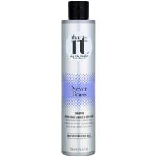Alfaparf Never Brass šampon za intenzivno nevtraliziranje rumenih tonov.