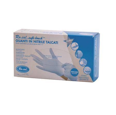 Ro.ial rokavice nitril S,M,L - svetlo modre
