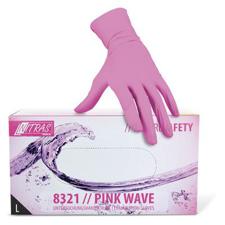 Rokavice nitril brez pudra S roza - 100kos