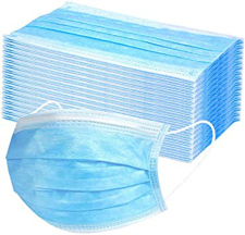 Zaščitne maske za obraz 3 slojna 50 kos