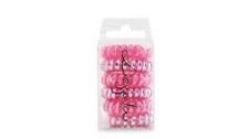 Elastika za lase - roza z bleščicami