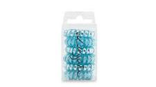 Elastike za lase - modre z bleščicami